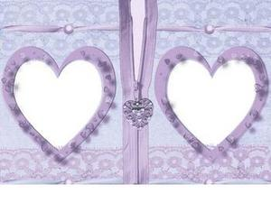 Beautiful Two Love Shapes Photo Frame Insert Photos Wallpaper