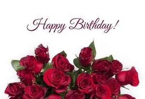 Happy Birthday Rose Flowers Background For Photos Ecard Greeting