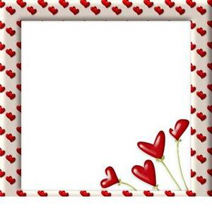 photo frames love hearts